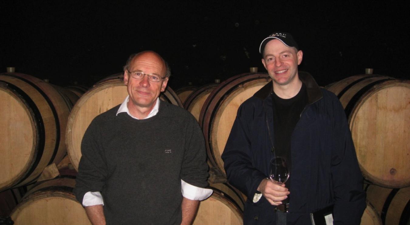 Ed Zimmerman with winemaker Freddy Mugnier