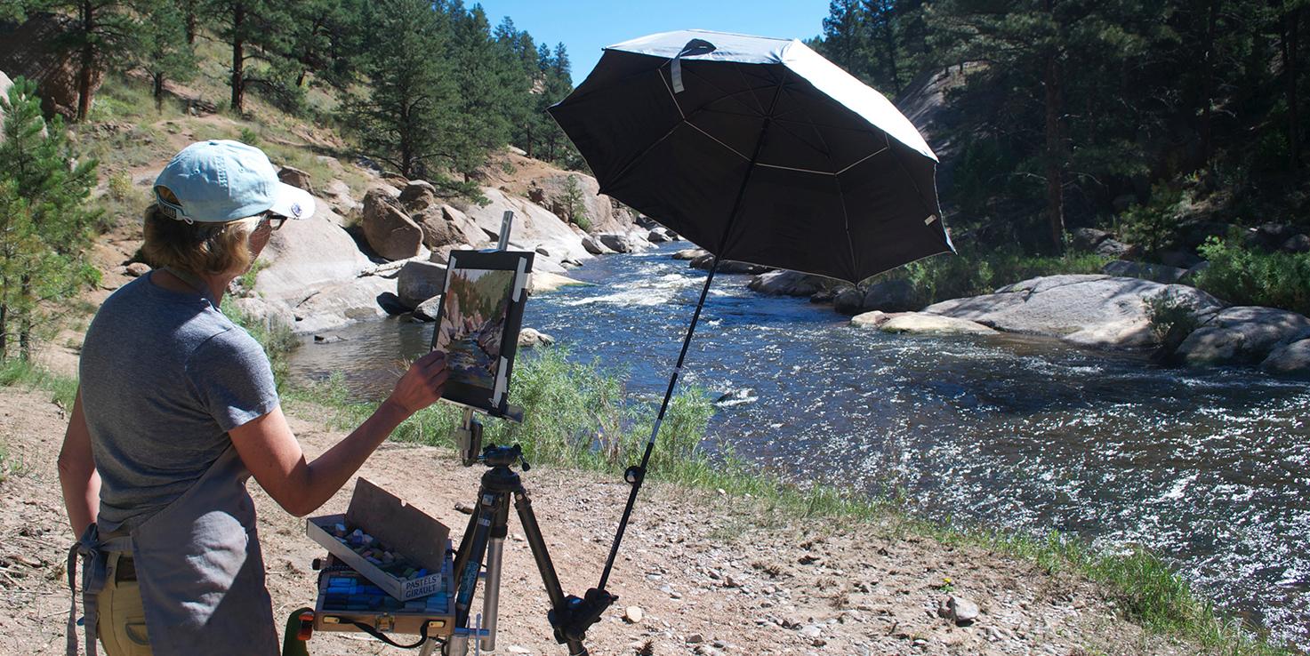 Painting Cheeseman Canyon - South Platt River, Colorado