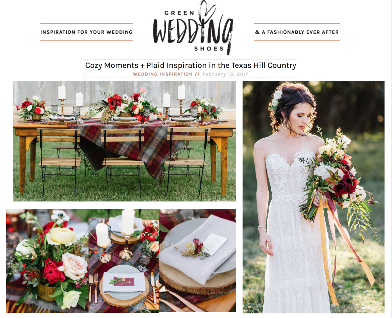 Green Wedding Shoes | Cozy Moments + Plaid Inspiration in the Texas Hill Country | Gypsy Floral & Events