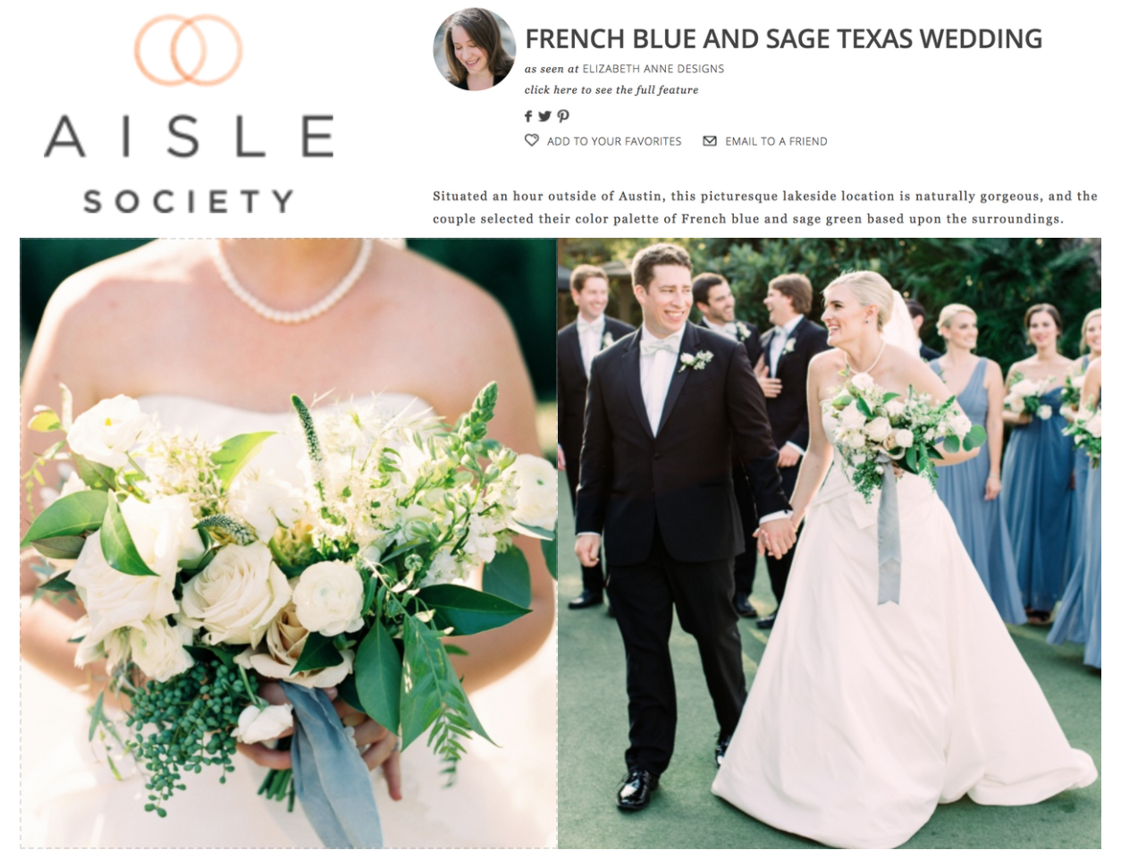 Aisle Society | FRENCH BLUE AND SAGE TEXAS WEDDING | Gypsy Floral & Events