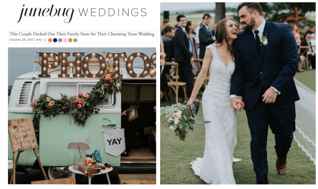 Junebug Weddings | This Couple Decked Out Their Family Farm for Their Charming Texas Wedding | Gypsy Floral & Events