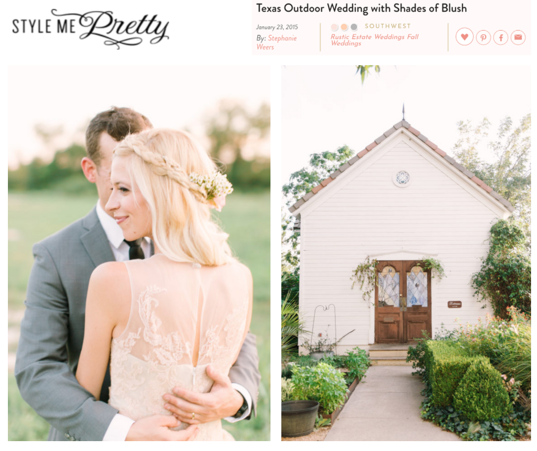 Style Me Pretty | Texas Outdoor Wedding with Shades of Blush | Gypsy Floral and Events
