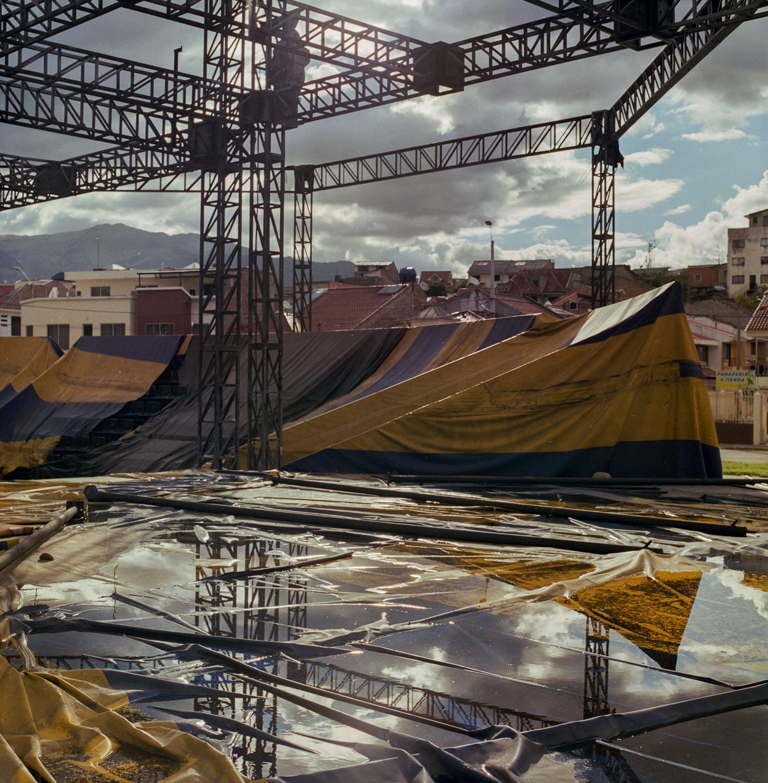 El Circo Social de Cuenca, destruido por el tiempo y las aguas tras su inauguración en 2012.