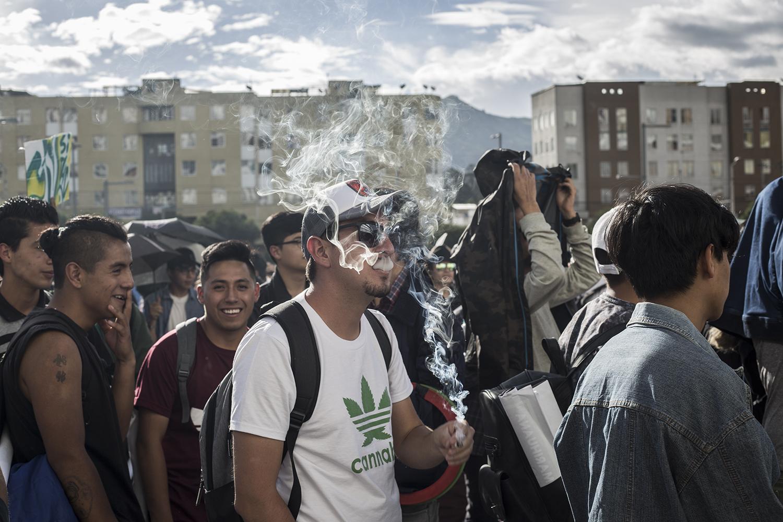Marcha Marihuana 2019 - humo