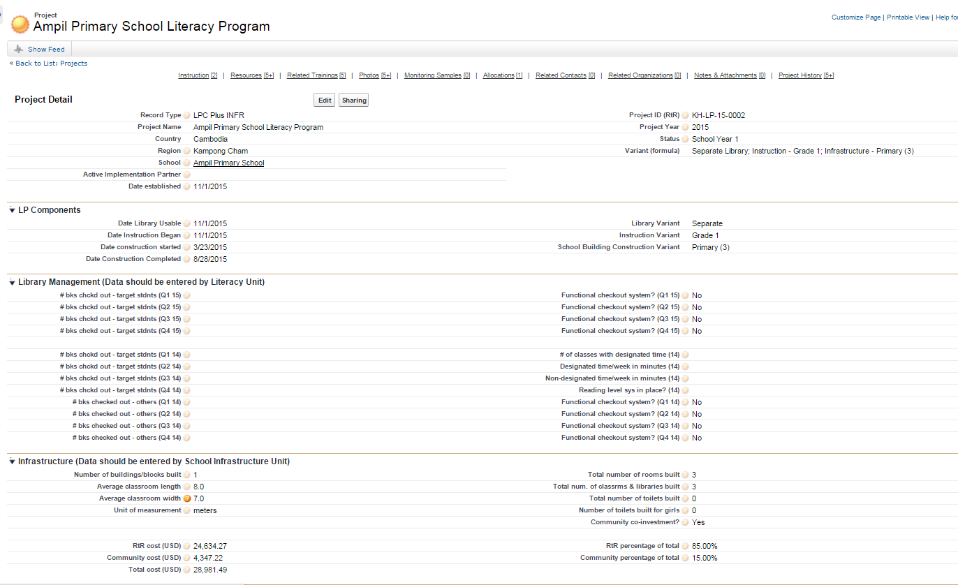 Screenshot of new consolidated Literacy page