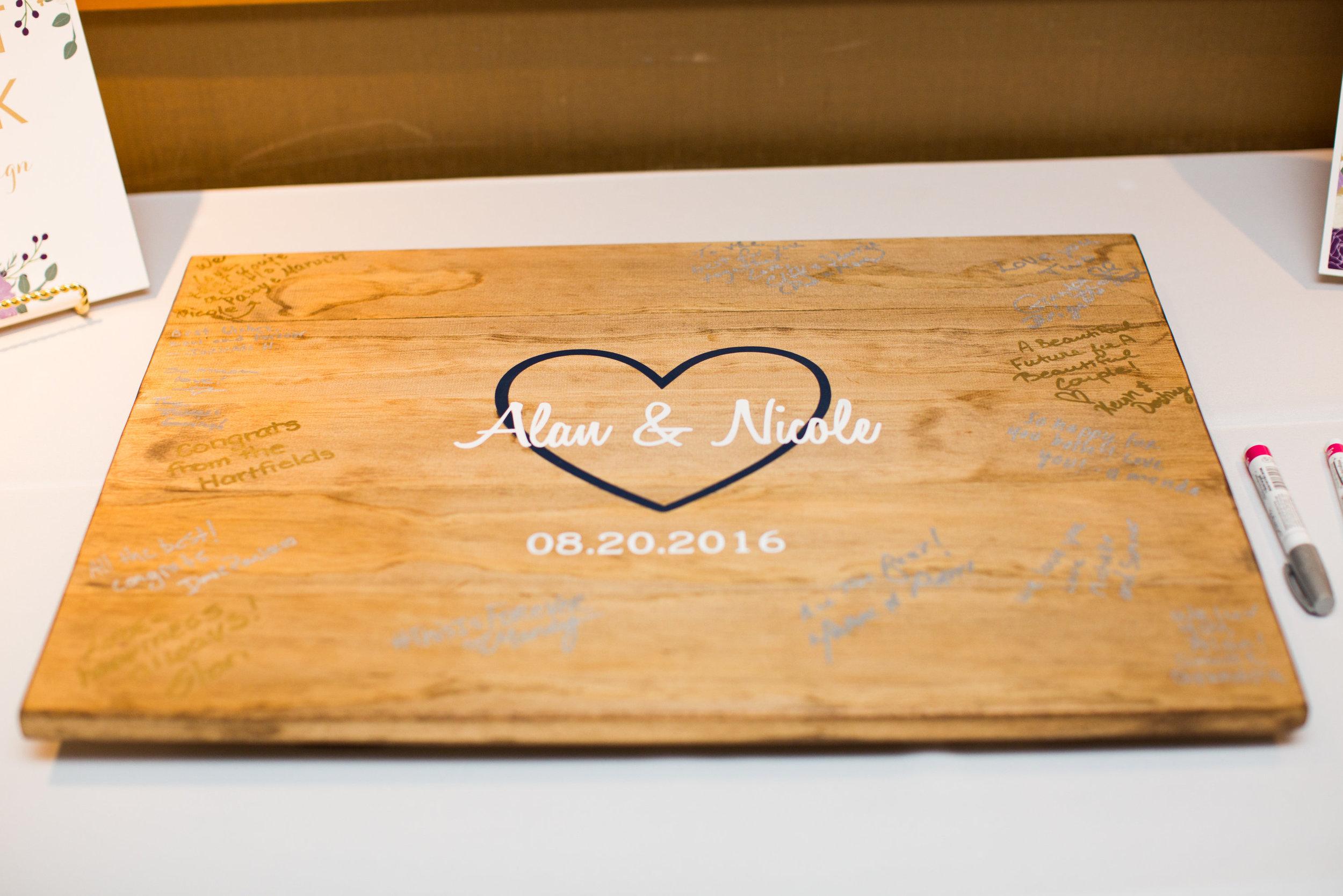Seattle Wedding Planner, Wedding Wise | Ciccarelli Photography | Edgewater Hotel Wedding | Wedding guestbook alternative
