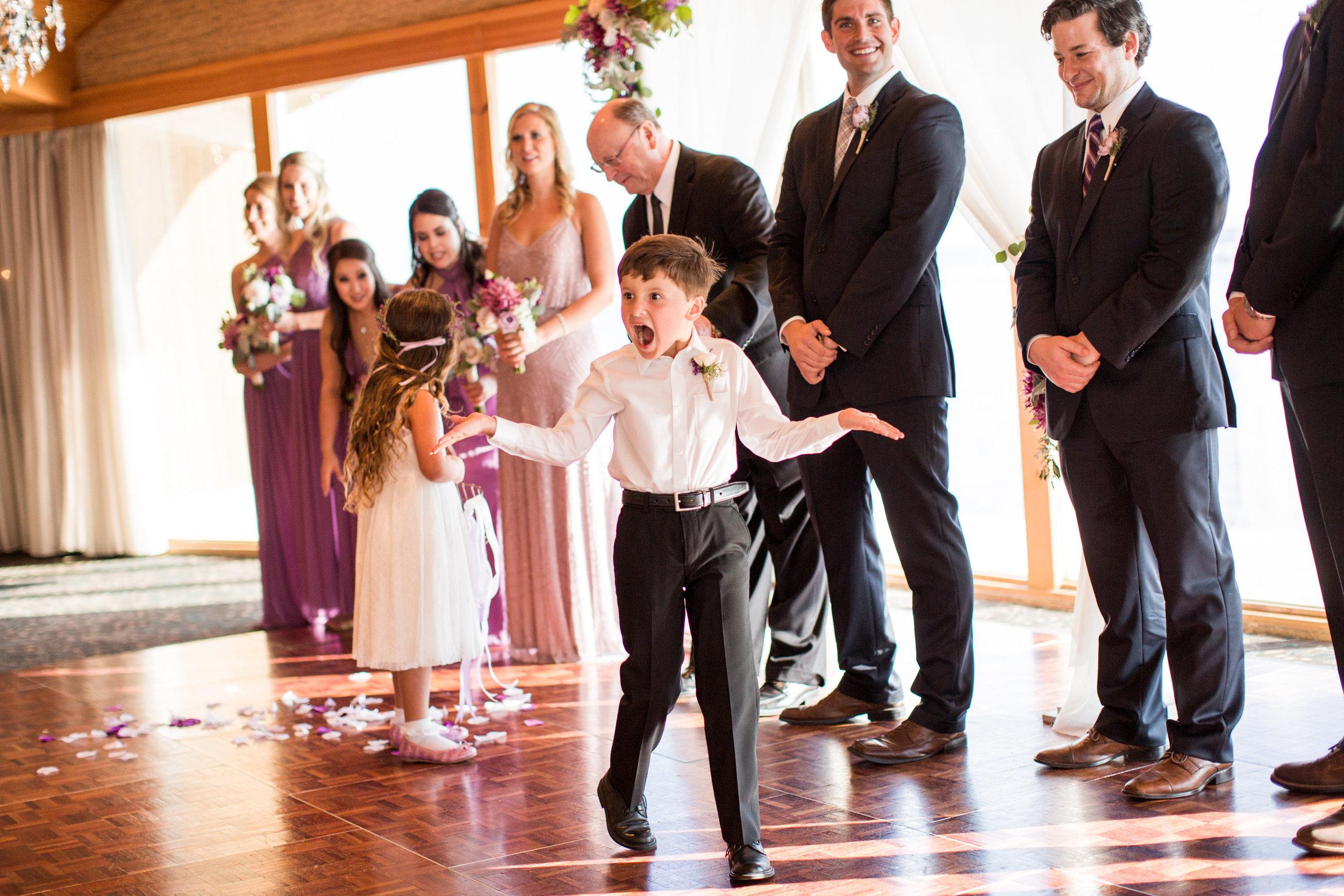 Seattle Wedding Planner, Wedding Wise | Ciccarelli Photography | Edgewater Hotel Wedding | Purple and navy blue wedding