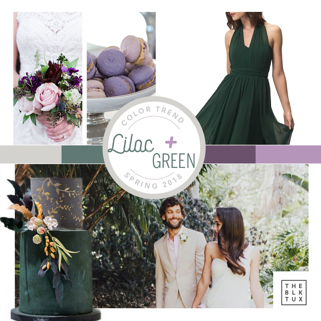 Lilac and Green Wedding Color Palette | Seattle Wedding Planning | The Black Tux