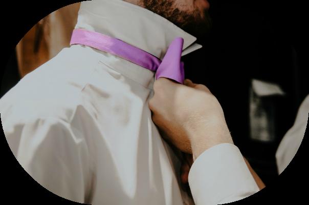 Purple Bow Tie | Groom Attire | Seattle Wedding Planner