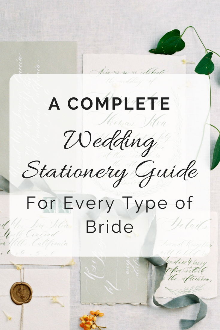 Complete Wedding Stationery Guide | Wedding Wise | Seattle Wedding Planner