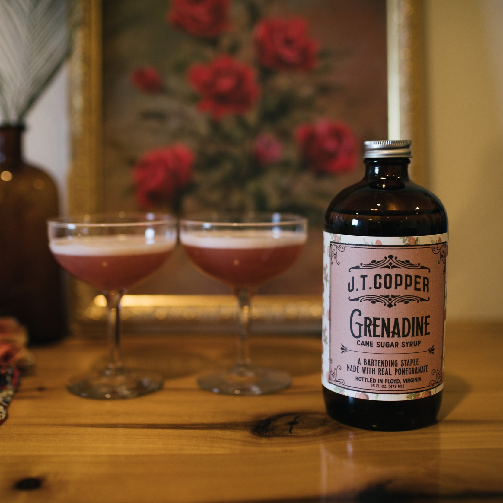 J.T. Copper Grenadine Syrup
