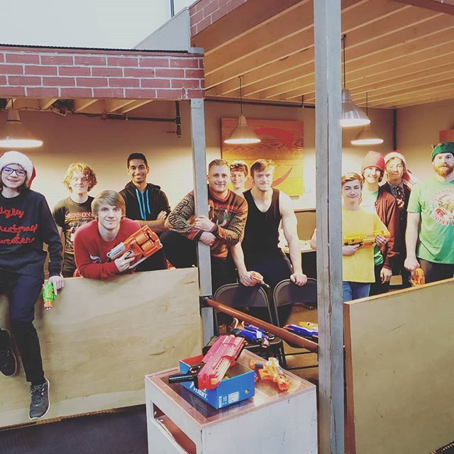 Ugly Sweater Nerf Night! See you next year! #revolutionparkour #yippeekiyay