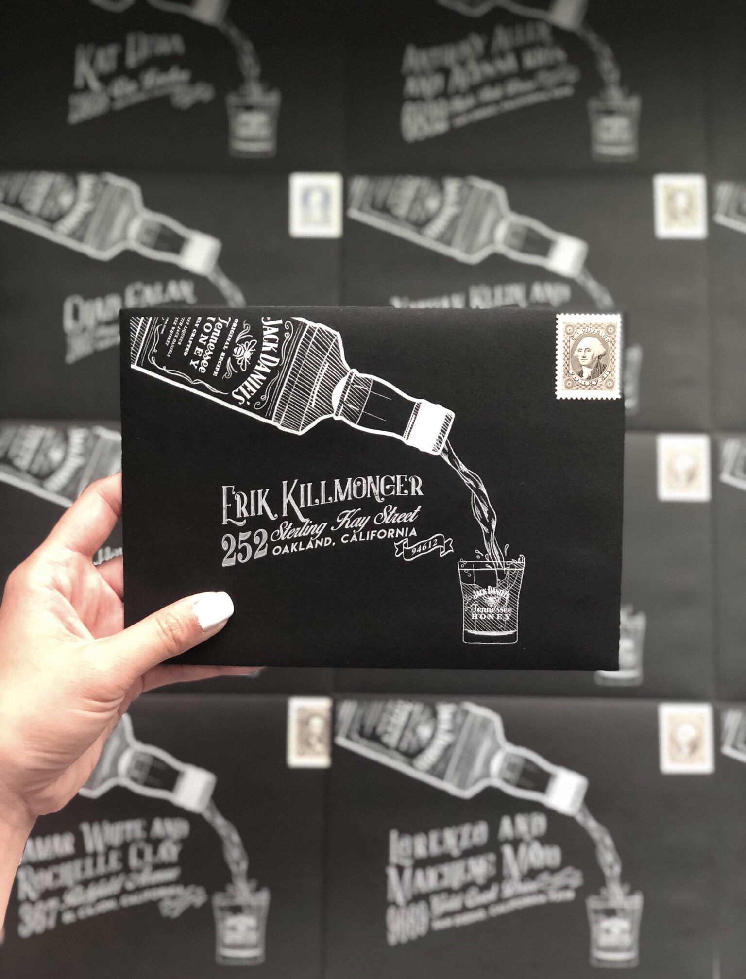 Black Envelope White Ink Envelope Illustration Design.JPG