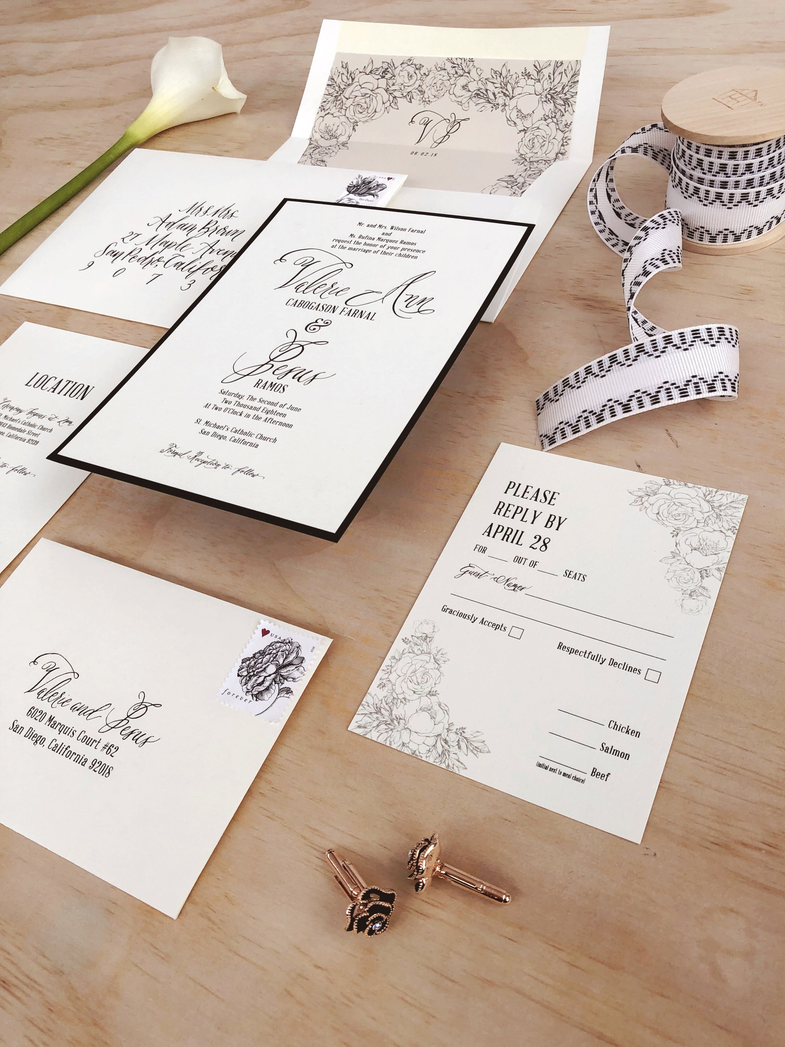 Black and White Classic Calligraphy Wedding Invitation.JPG