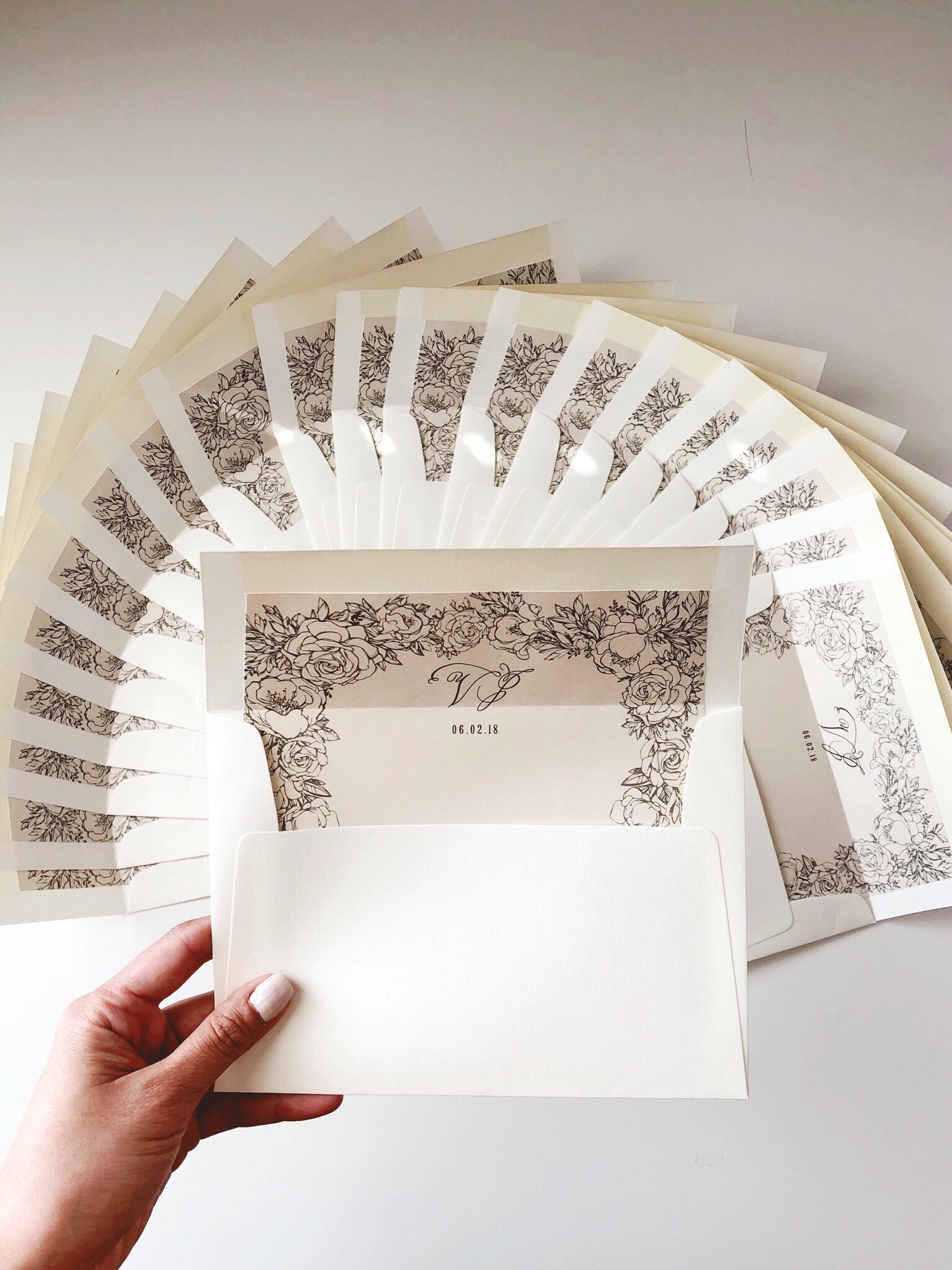 Classy Wedding Envelope Liner.JPG