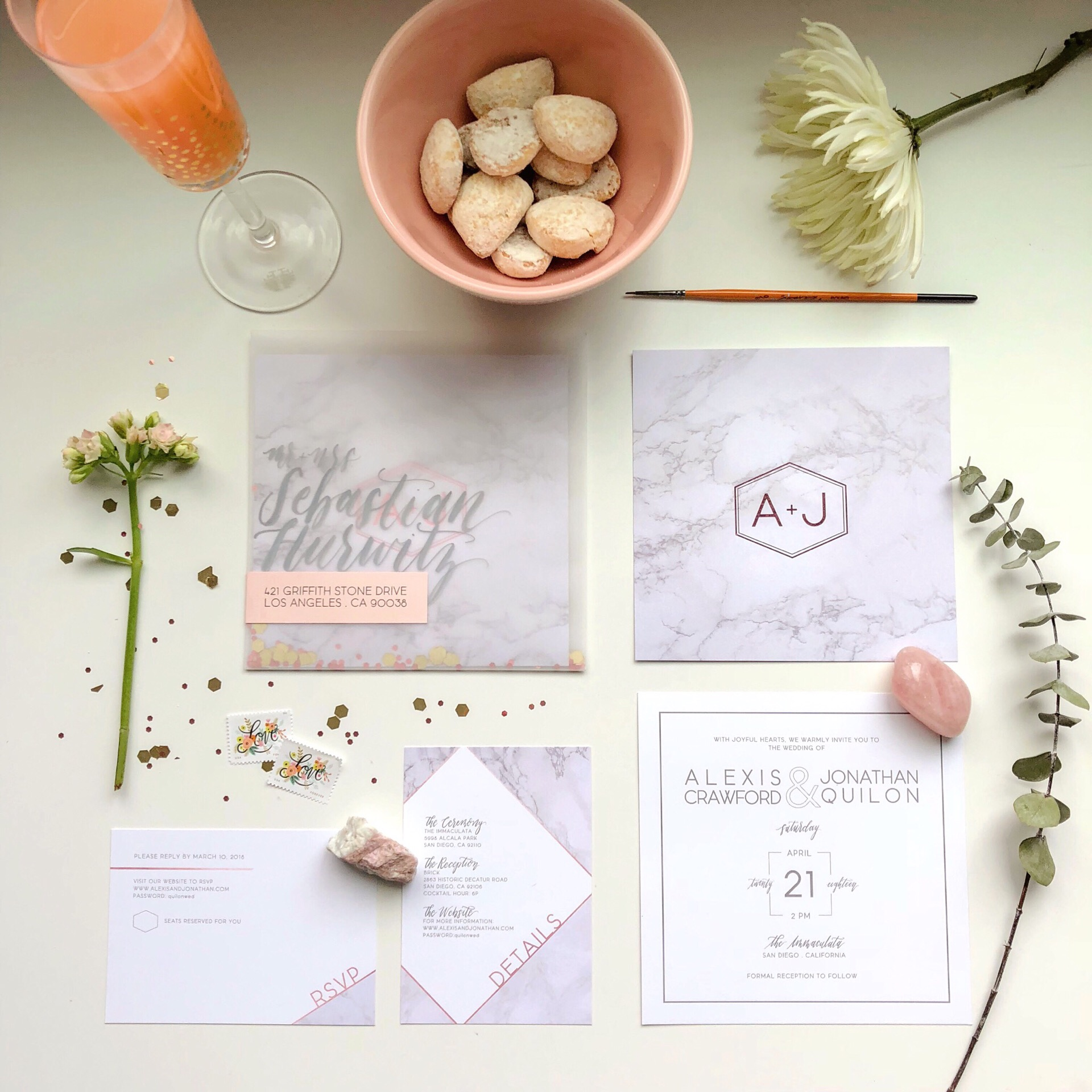 Marble Rose Gold Foiling Invitation Suite.JPG