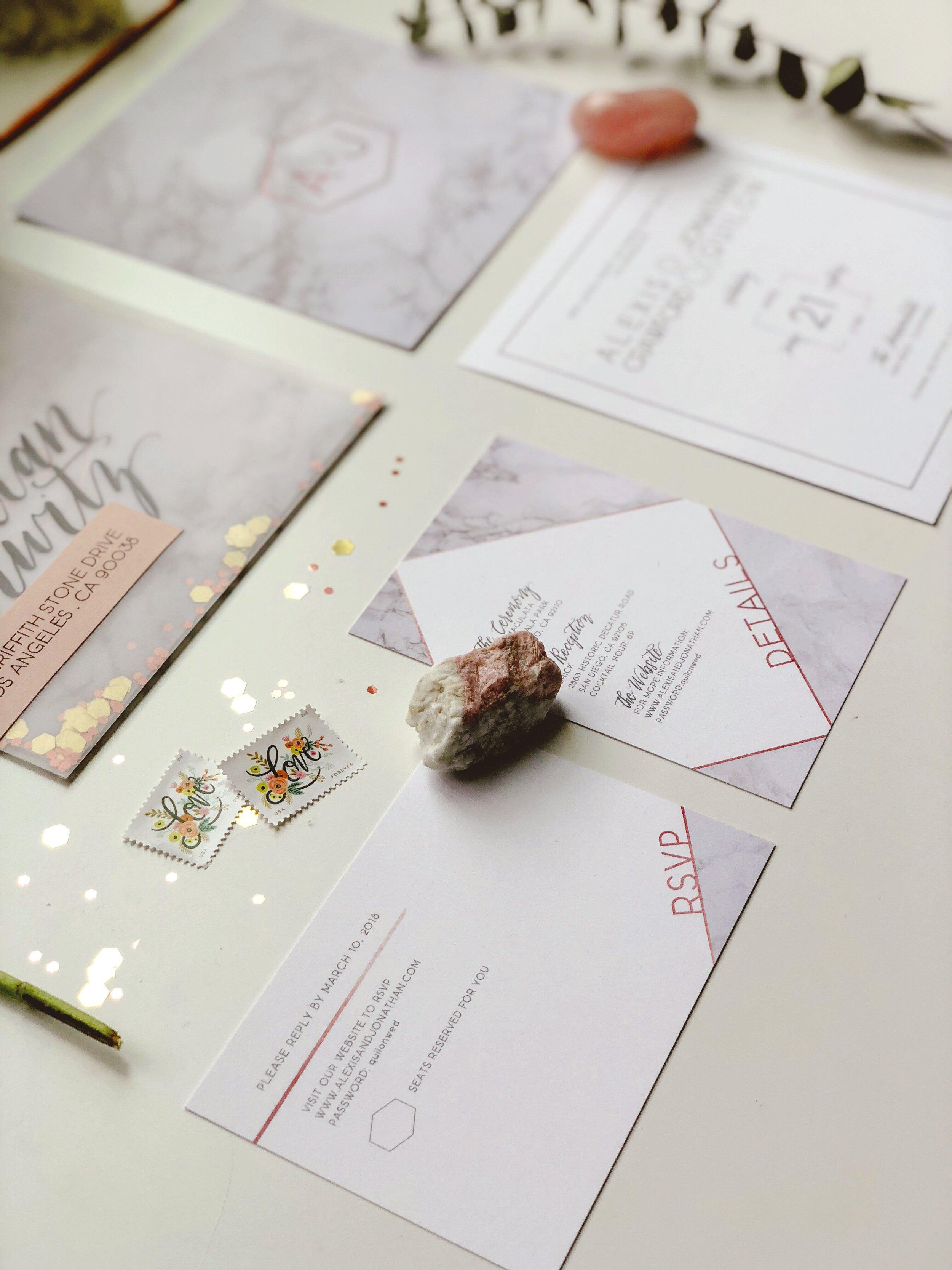 Marble Rose Gold Wedding Invitation.JPG
