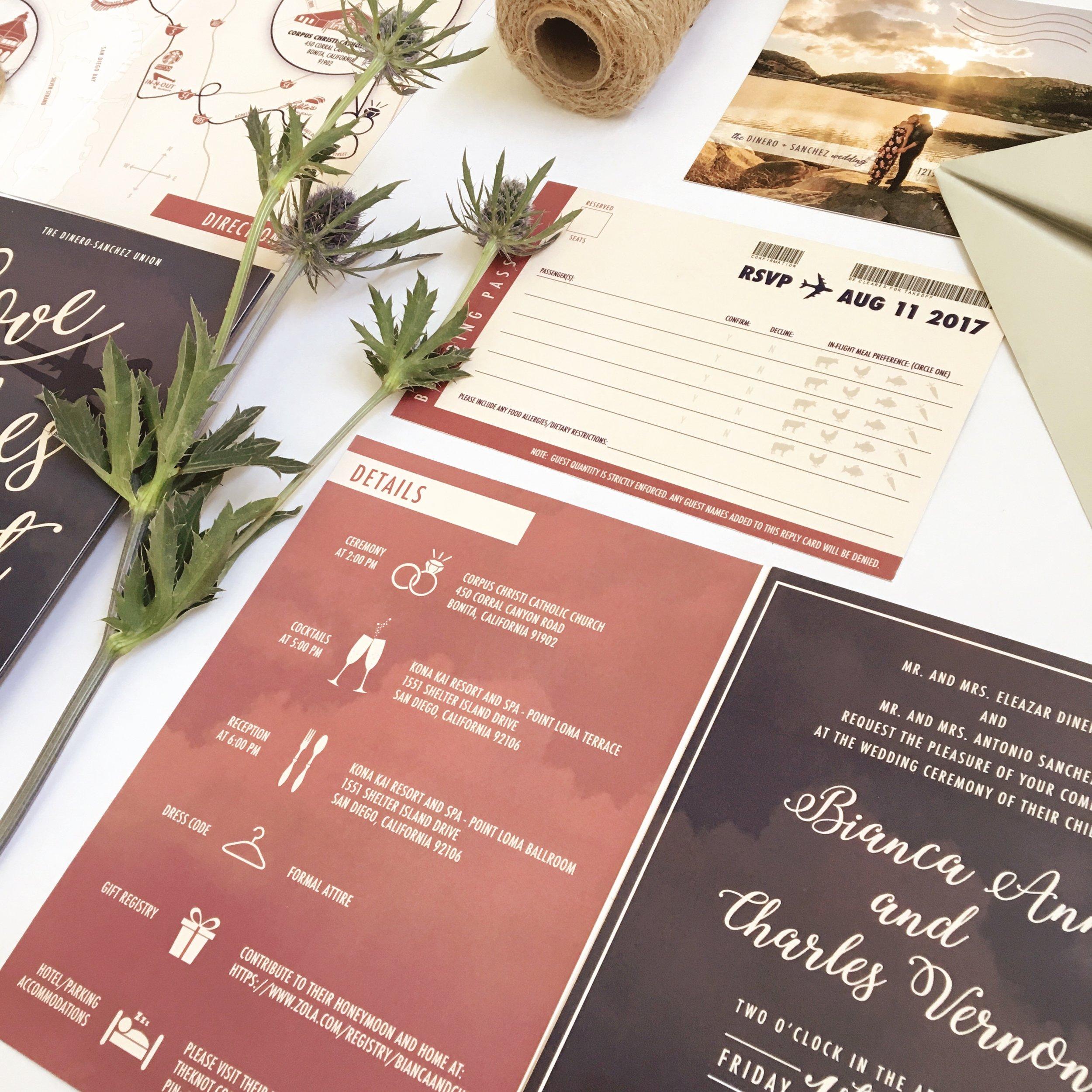 Travel Theme Wedding Invitation.JPG