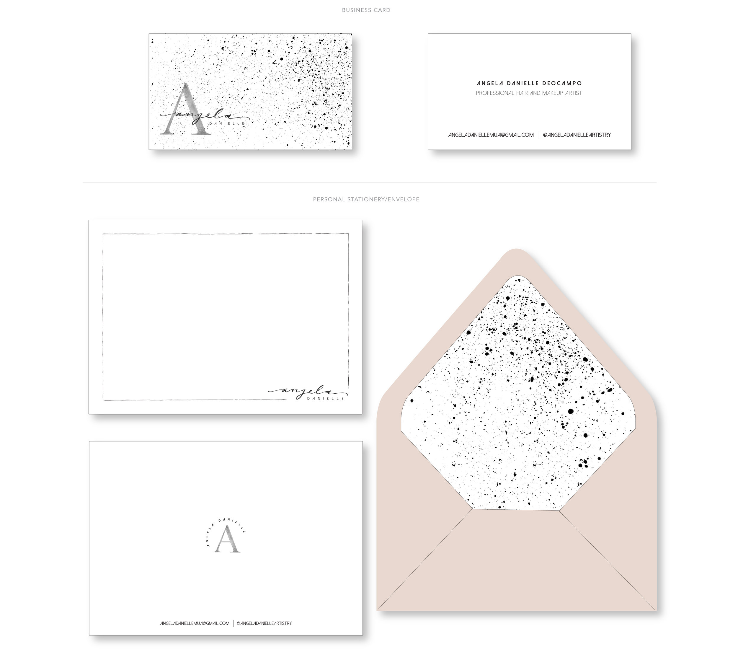 Black, White, and Nude Business Stationery