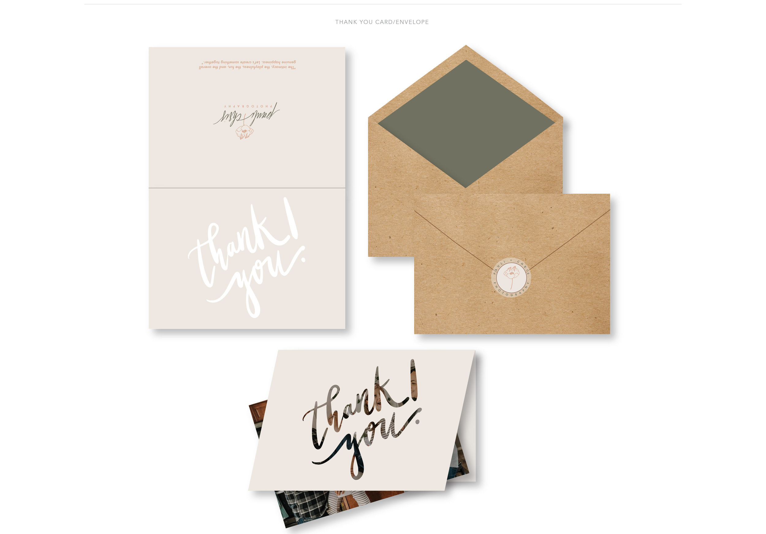 Thank You Card Stationery Concept