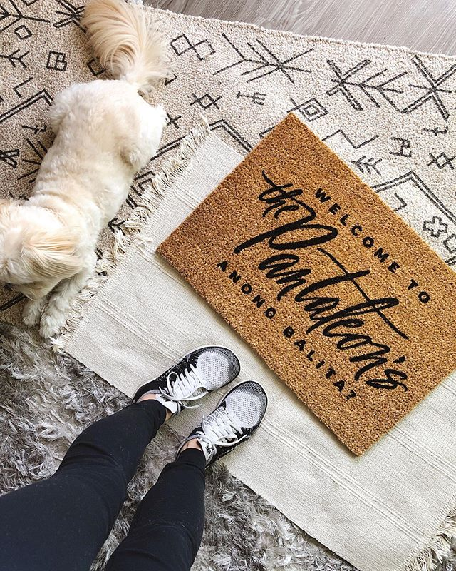 "Just in case you missed it, this Saturday, OCT 5th will be the last day to PLACE A DOORMAT ORDER to receive it within the usual turnaround time. ____ Between 10/6 - 11/12 I WON'T BE PROCESSING ANY *NEW* DOORMAT ORDERS. Thank you for your understanding! ____ Doormat ordering/processing WILL BE BACK to its normal schedule STARTING 11/12. For more info please the DOORMAT INFO HIGHLIGHT. To shop click THE LINK IN MY BIO! madebyterri.com/doormat-collection ____ [Product Info:] ""Fully Custom Fully Yours Doormat"" in size Small. #HomeMadeByTerri #customdoormats • • • • • #madebyterri #handlettering #moderncalligraphy #blocklettering #handpainted #doormat #homesweethome #newparent #closinggifts #sandiegorealestate #firsthome #homeowners #doormatsofinstagram #welcomehome #theeverygirlathome #apartmenttherapy #mydomaine #homedecor #frontporchgoals #hmhome #ikeahome #targethome #holidaygiftideas #weddinggiftideas"