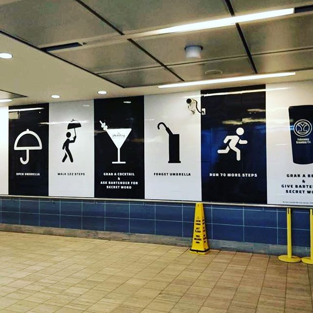 Creative #ads inside Vancouver Yaletown Roundhouse station using #Wayfinding 🍸