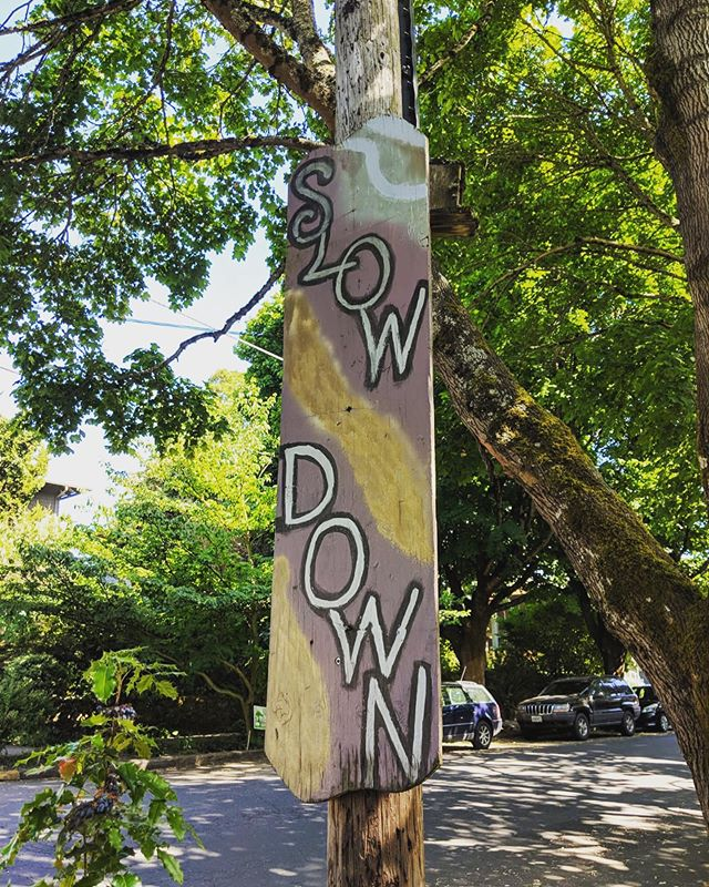 Wayfinding for the people! . . . #wayfinding #portland #slowdown #signage #sign #urban #travelusa #oregon #diy