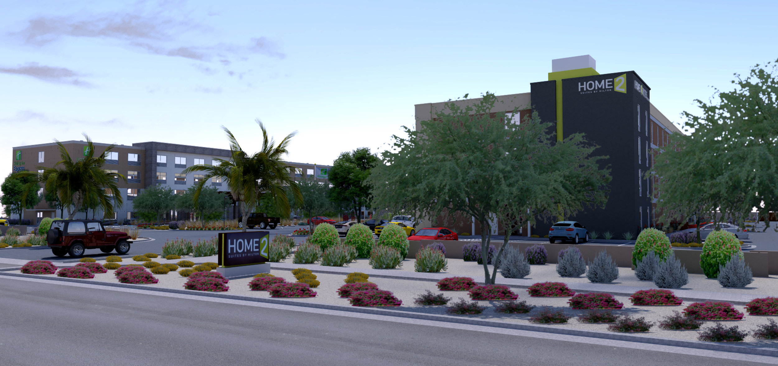 Rendering of Home2 Suites by Hilton