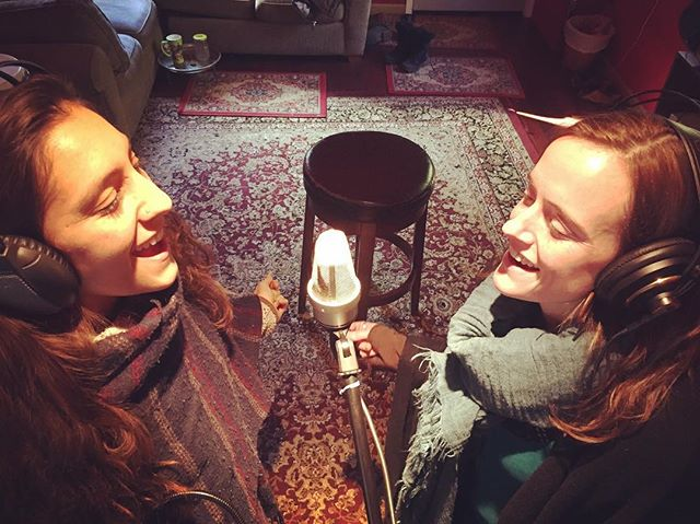 Winter holiday recording session with Aea Luz for her upcoming album, Grow. It's such a gift to sing with this sister on the regular. ❤️🎶