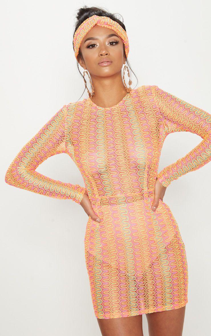 Neon Crochet Dress - PrettyLittleThing | $20.25