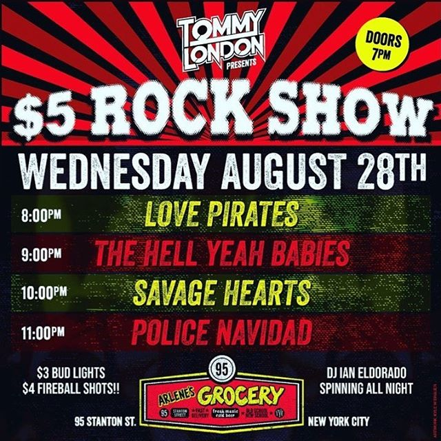 The babies are BACK at @arlenesgrocery next Wednesday on another fantastic 5$ rock show bill by Mr. Entertainment, @officialtommylondon!
