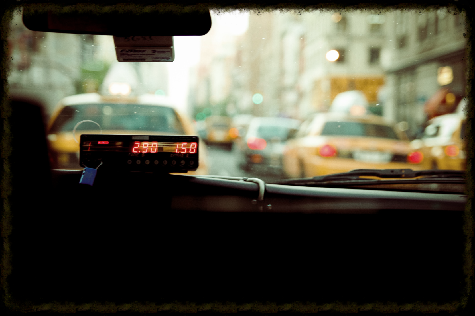 Do not sit in the front seat of a Taxi if you are riding alone with the driver!