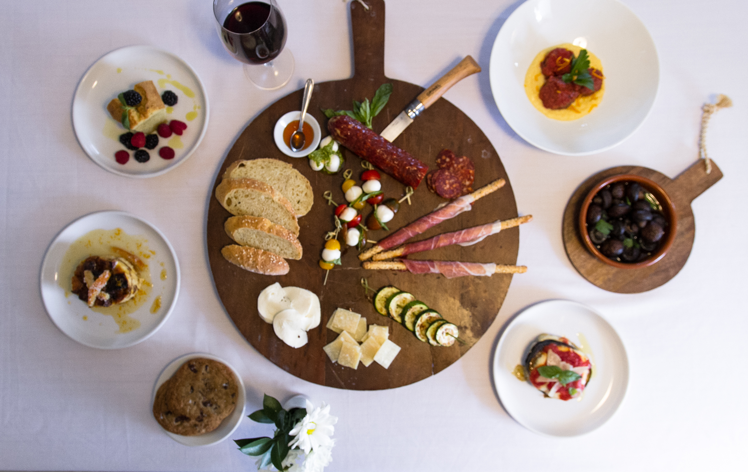 Antipasto ~ Assorted cured meats, cheeses, fire roasted vegetables