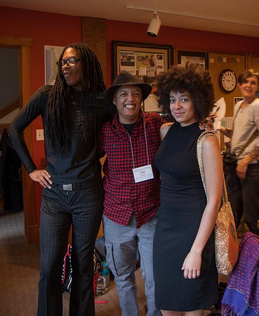 Christopher Sebastian McJetters, Pax Ahimsa Gethen, and Aph Ko. (Photo Credit: Ziggy Tomcich).