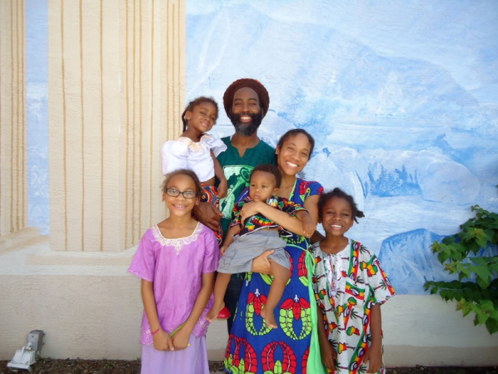 An image of Camille with her whole family.