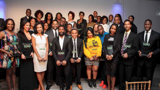 Honorees of The Root 100 2015 after receiving their awards in New York City on Nov. 12, 2015. Derrick Davis for The Root.