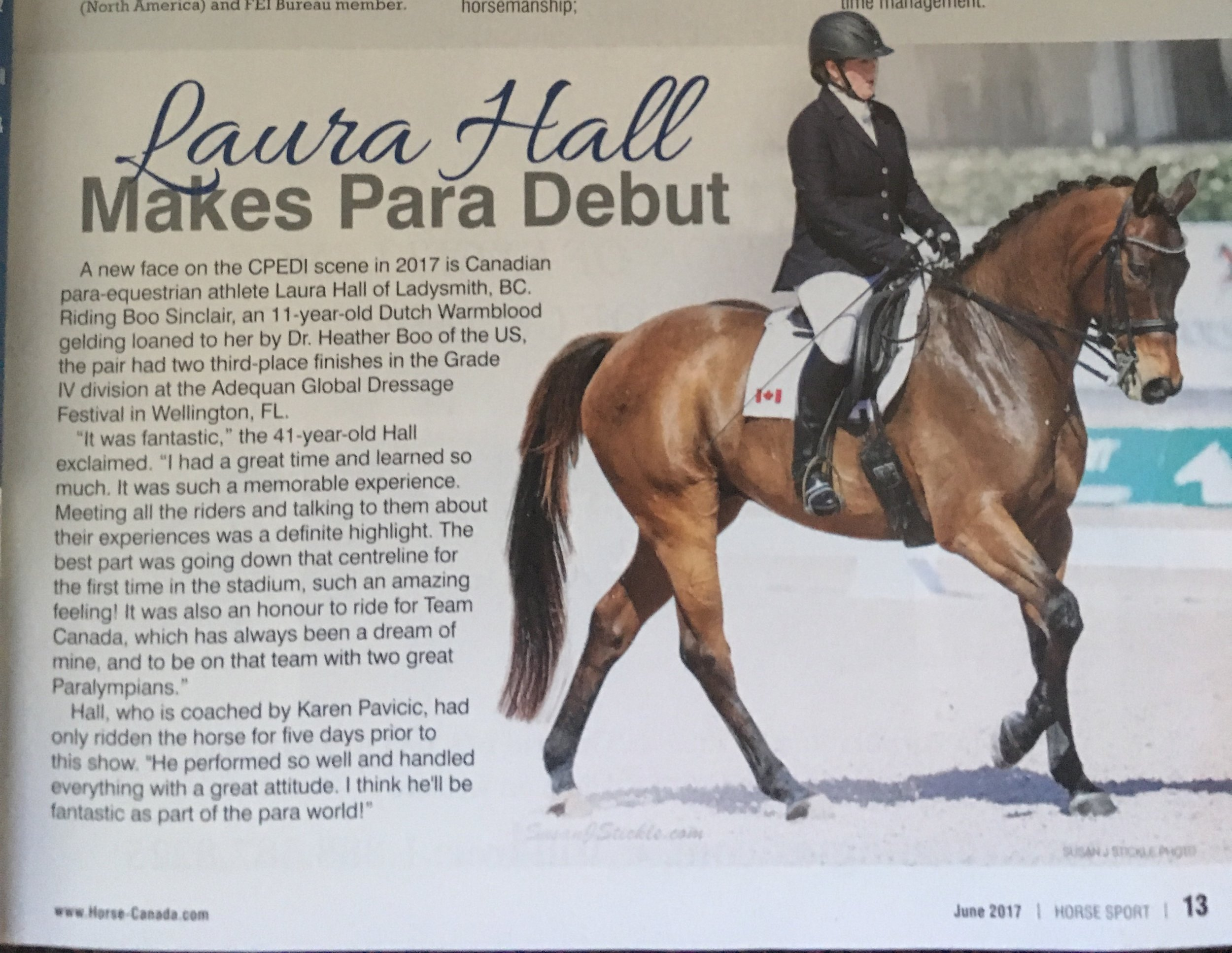Laura Hall's Para-Equestrian Journey -