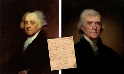 John adams in a letter to thomas jefferson in 1787