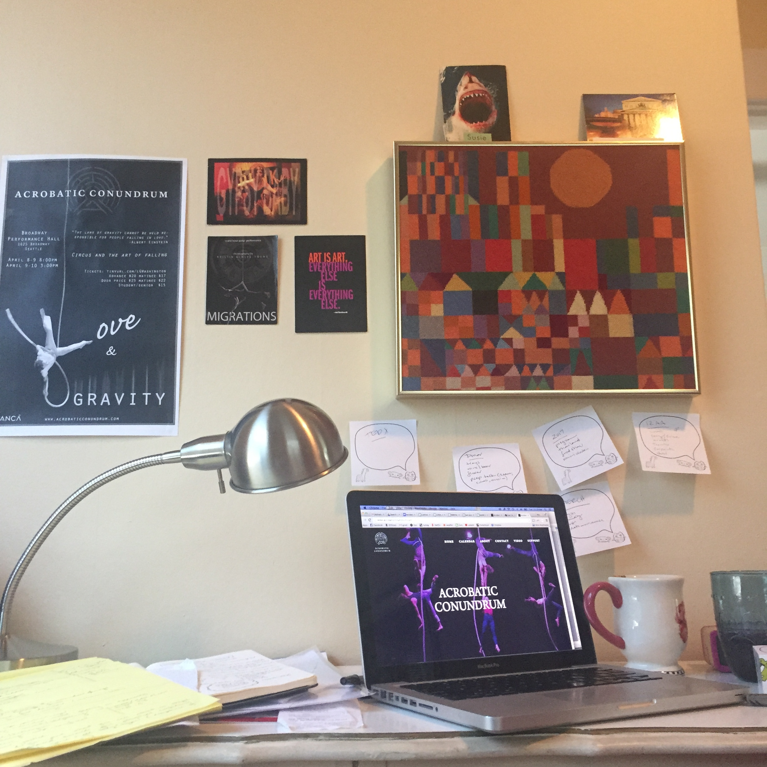 A view of Managing Director Susie Williams' desk.