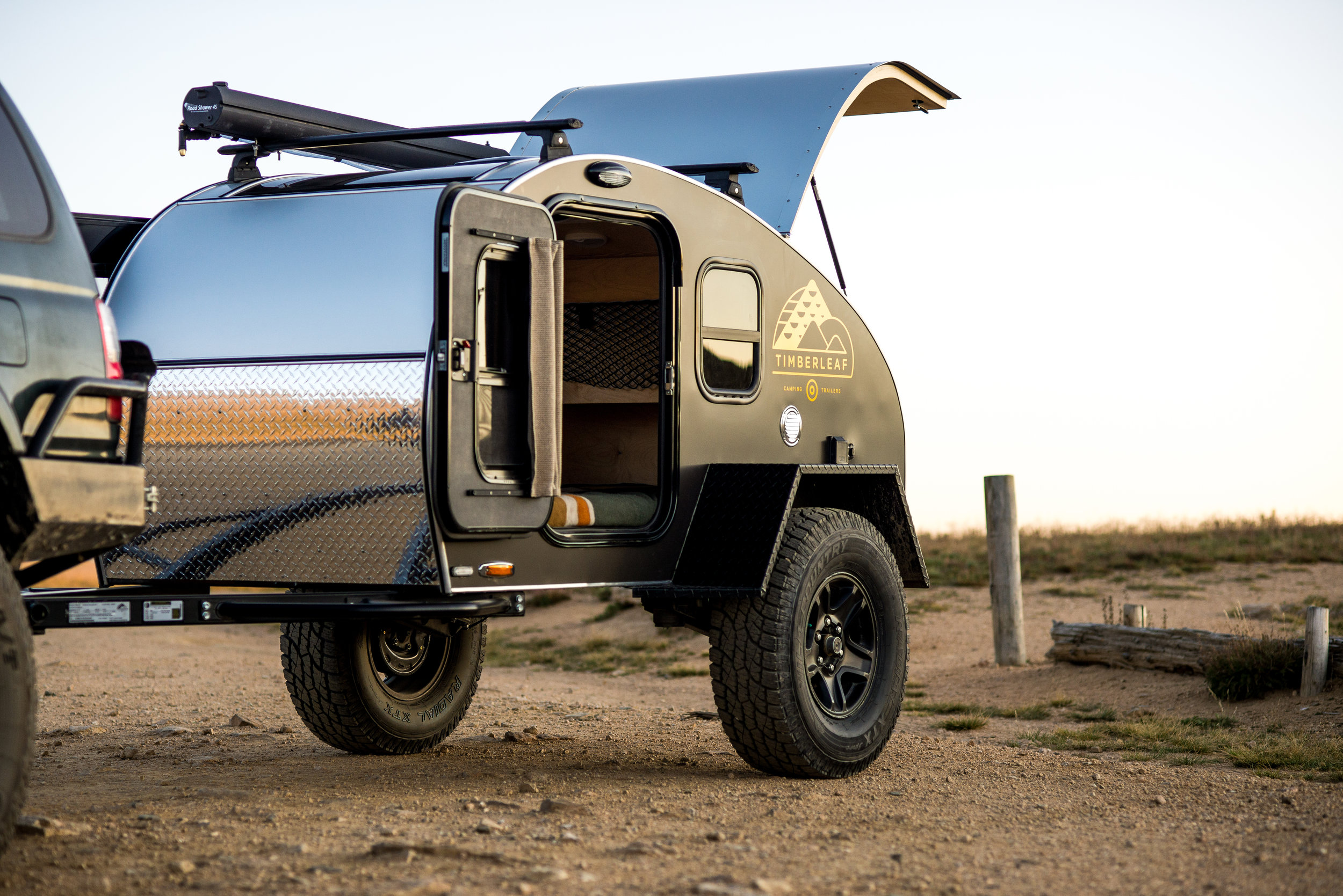 Pika Teardrop shown with optional Offroad Package upgrade.