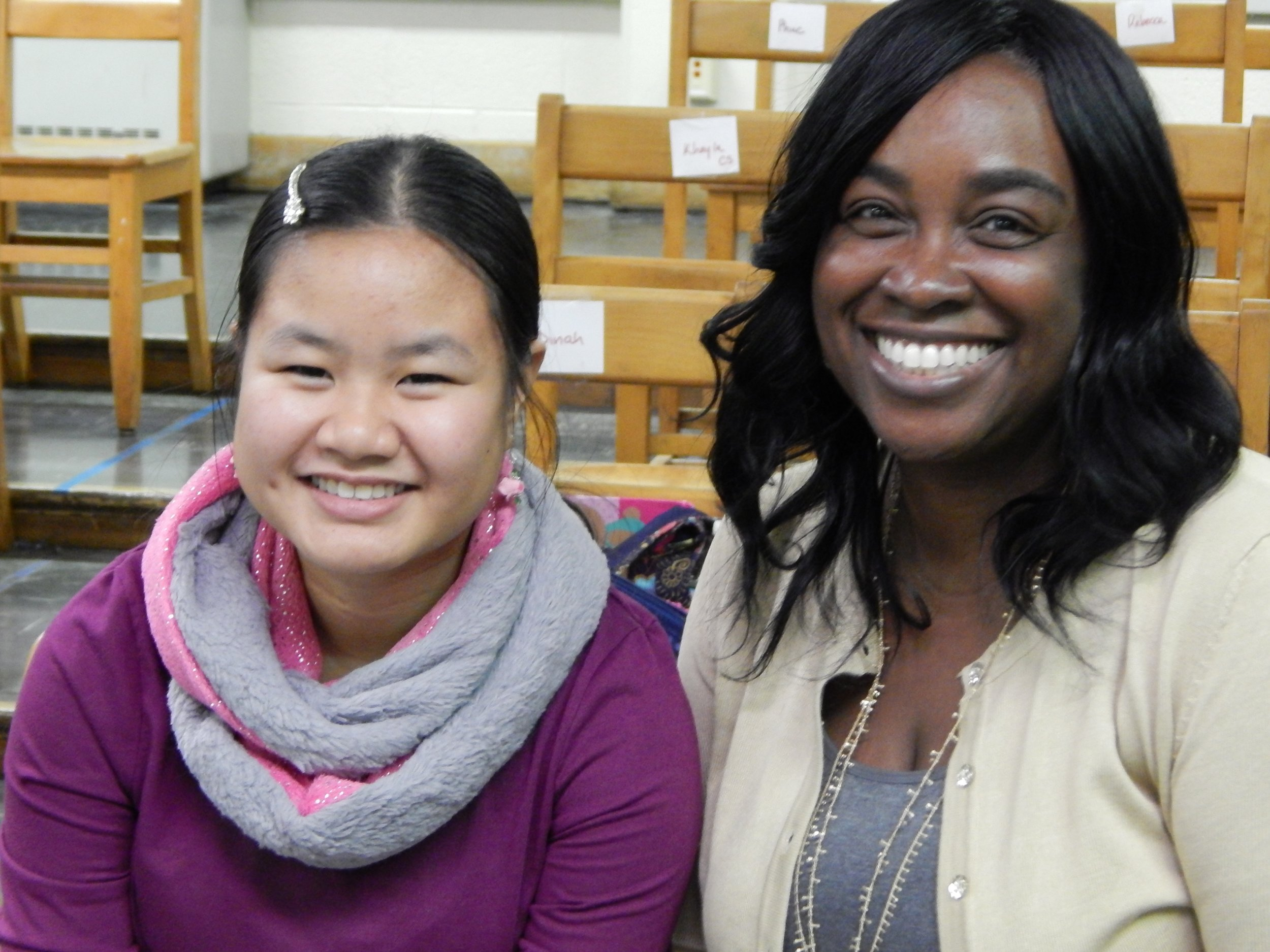 Anna Nguyen with Project 440 College and Career Specialist Joy Mackey