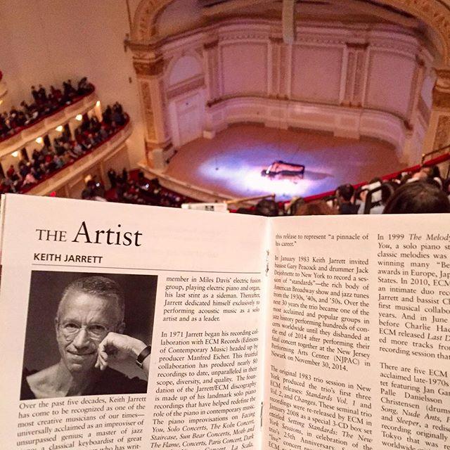 AHH KEITH JARRETT SOLO PIANO AT CARNEGIE HALL WITH @gimbalator SO LEGENDARY 😭😱😭🎹💀