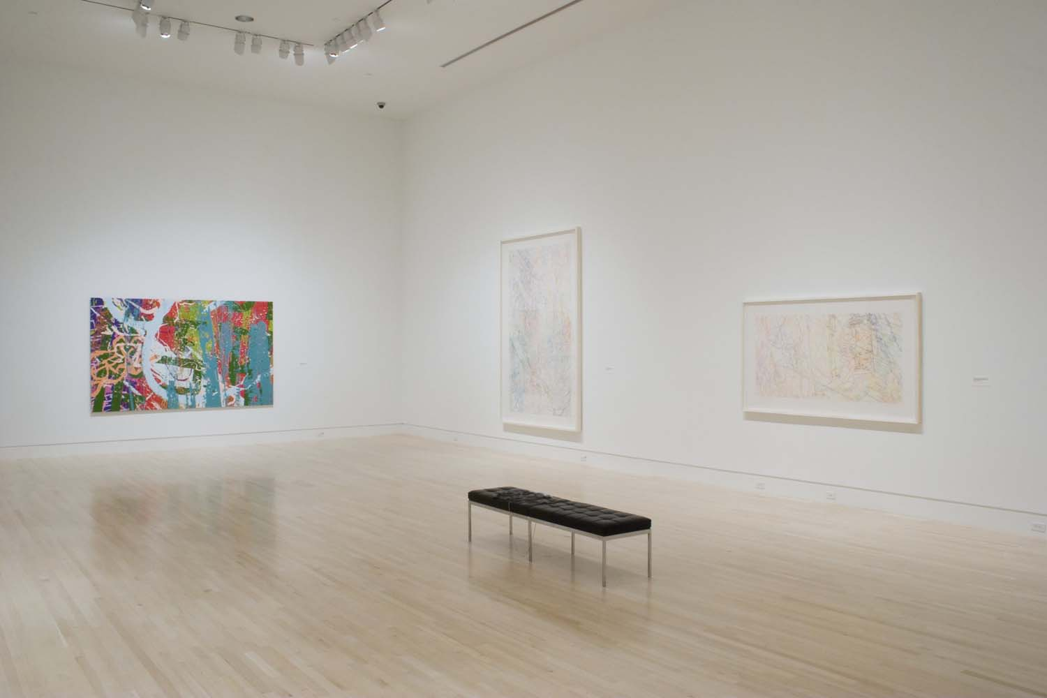 """Installation view of """"Ingrid Calame: Traces of the Indianapolis Motor Speedway"""" at the Indianapolis Museum of Art, 2007"""