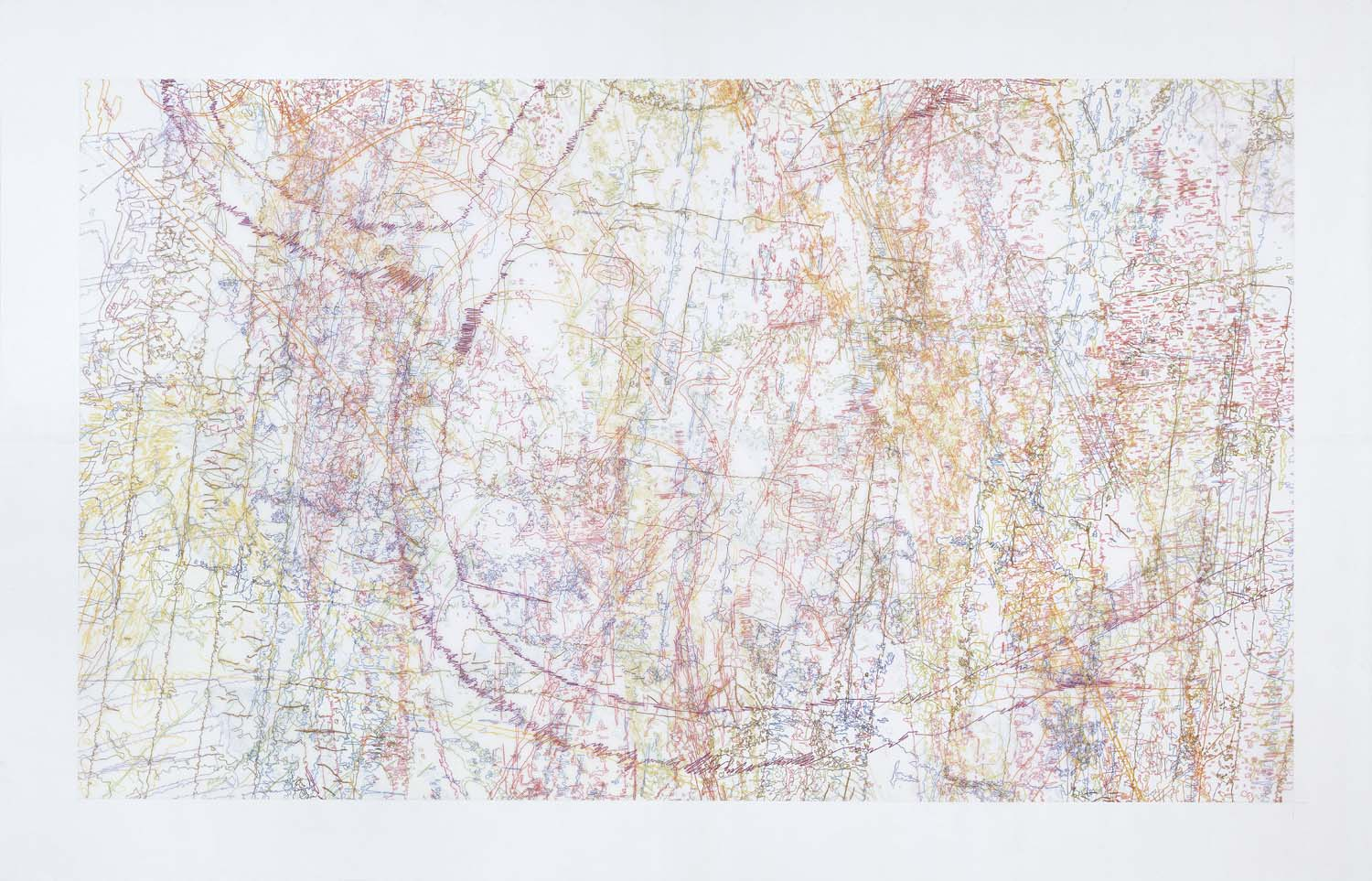 #258 Drawing (Tracings from the Indianapolis Motor Speedway and the L.A. River)