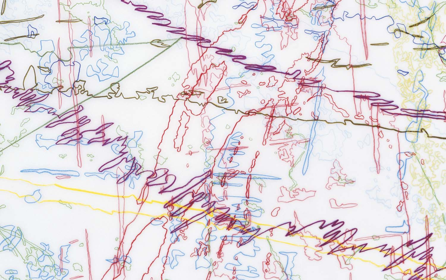 #258 Drawing (Tracings from the Indianapolis Motor Speedway and the L.A. River) DETAIL