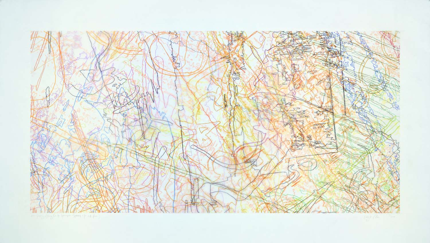 #268 Drawing (Tracings from the Indianapolis Motor Speedway and the L.A. River)