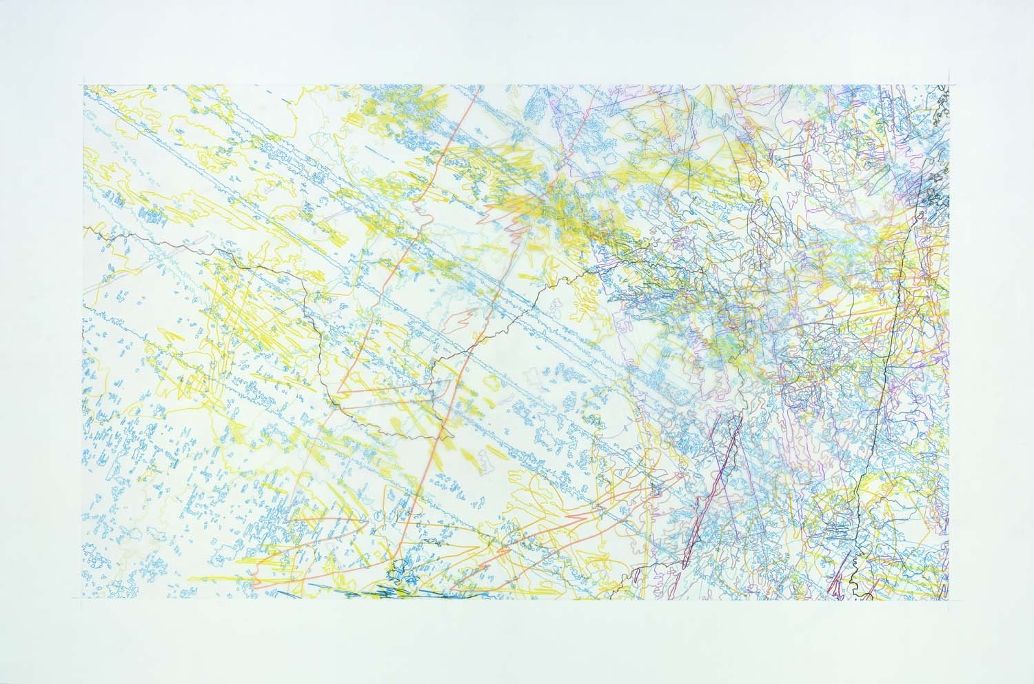 #265 Drawing (Tracings from the Indianapolis Motor Speedway and the L.A. River)
