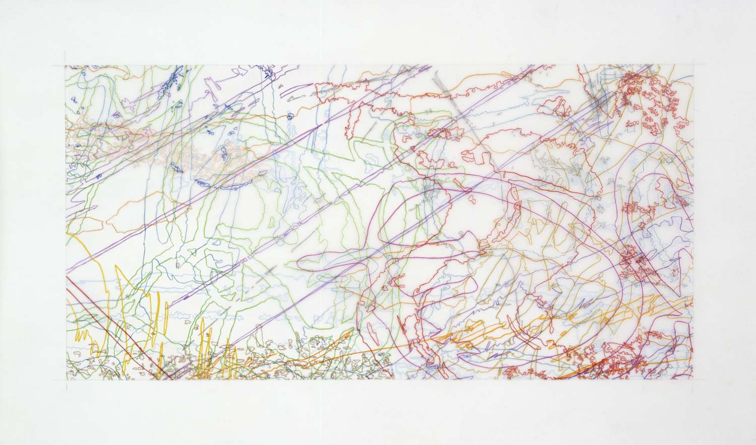 #269 Drawing (Tracings from the Indianapolis Motor Speedway and the L.A. River)