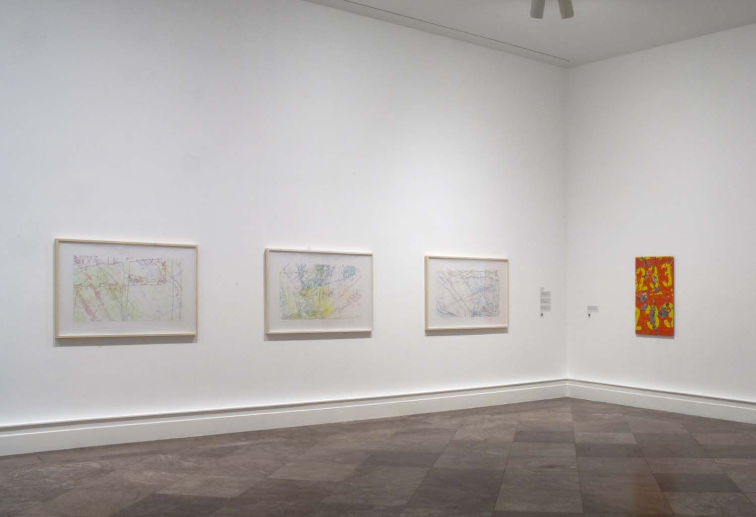 """Albright Knox Art Gallery, installation view of """"Ingrid Calame: Step on a Crack"""", 2009"""
