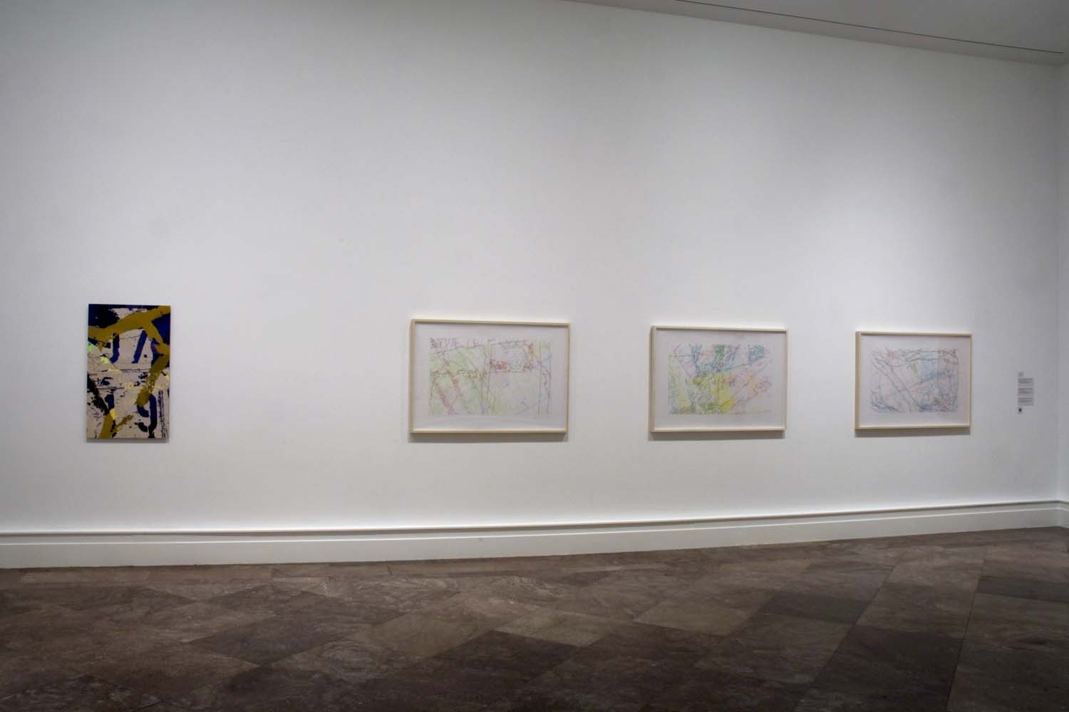 """Albright Knox Art Gallery, installation view of """"Ingrid Calame: Step on a Crack,"""" 2009"""